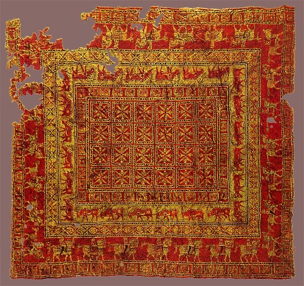 The oldest Persian carpet in the world was found in Altai