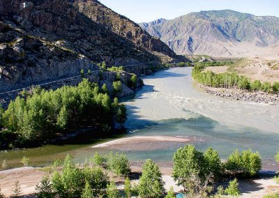 Two rivers - confluence of Katun and Bolshoy Yaloman