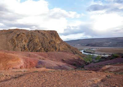 Red mountains in Altai