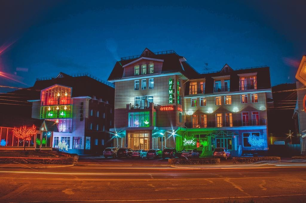 Hotel Igman in the night