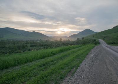 Road in Altai krai