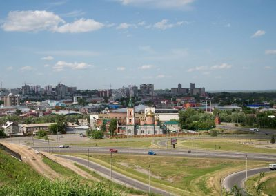 View to Barnaul, the capital of Altai krai