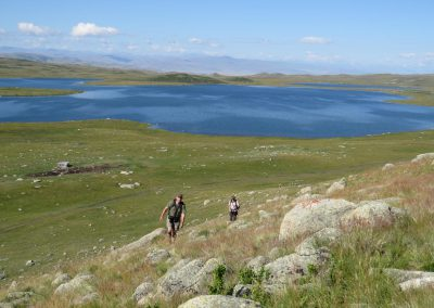 Hiking up near Kyndyktykul lake