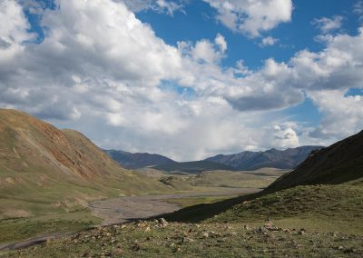 View to the beautiful valley in Altai
