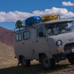 UAZ in the Altai mountains