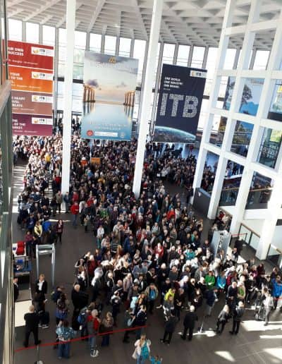 line to entrance ITB berlin